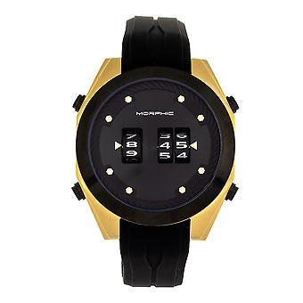 Morphic M76 Series Drum-Roll Strap Watch - Or/Noir