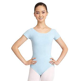 Capezio Women's Classic Short Sleeve Leotard,Light, Light Blue, Size Medium
