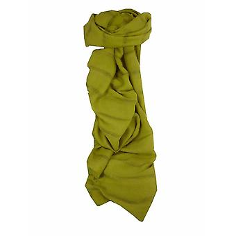 Mens vietnamesisk Long Silk skjerf Hue Light Olive av pashmina & Silk