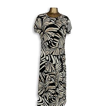 Attitudes By Renee Dress Petite LP Jersey Maxi Animal Print Beige A347505