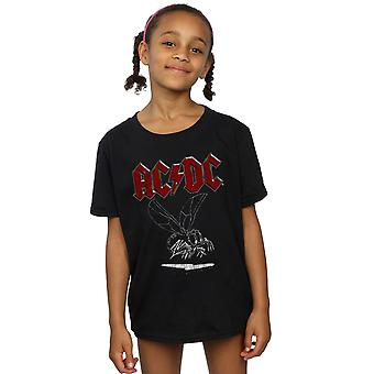 AC / DC الفتيات تطير على الجدار 1985 تي شيرت