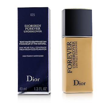 Christian Dior Diorskin evigt Undercover 24h slitage full täckning vattenbaserad foundation-# 025 Soft beige-40ml/1.3 oz