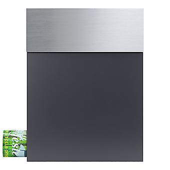 MOCAVI Box 510 letterbox stainless steel / anthracite grey (RAL 7016) with newspaper compartment
