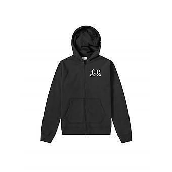 C.P. Company Undersixteen Black Logo Hoody