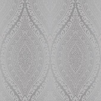 Kismet Damask Glitter Wallpaper GranDeco