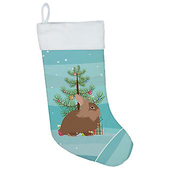 Carolines Treasures  BB9327CS Lionhead Rabbit Christmas Christmas Stocking