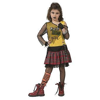 Punker Girl Punk Mädchenkostüm freche Schulgöre Schulmädchen