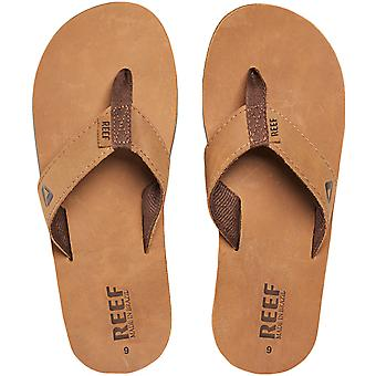 Reef Mens Leather Smoothy Holiday Pool Beach Flip Flops Sandálias Thongs - Bronze