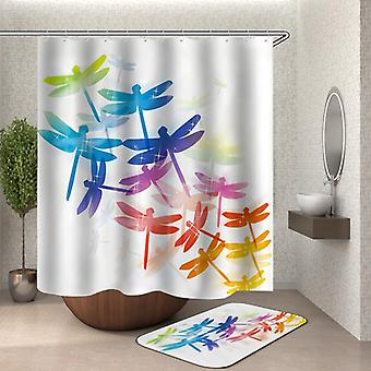 Colorful Dragonflies Shower Curtain