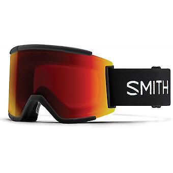 Smith Squad XL Black - 96K - Sun Red Mirror