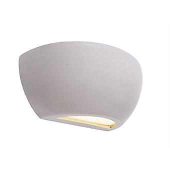 UpDown wall lamp Netito II max. 1x25 W E14 245x85mm grey concrete can be overcoatted