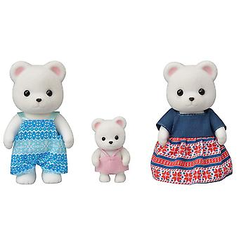 Sylvanian Families 5396 Polar Bear Family (3 Figure) - Kids Toy