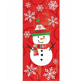 Amscan Snowman Cello Bags (Pack of 20)