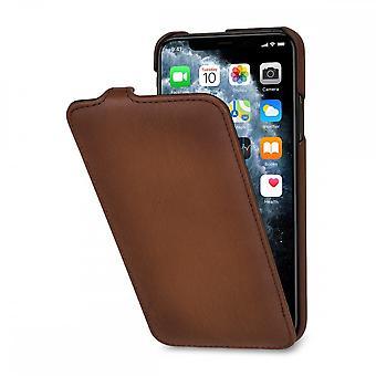 Etui Pour Iphone 11 Pro Max Ultra Slim En Cuir Véritable Marron