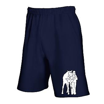 Pantaloncini tuta blu navy fun1868 horse rider