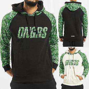 DNGRS Mens Hooded Sweater GREENLINE Weed Chill Hoody Sweat Shirt Hemp Pullover