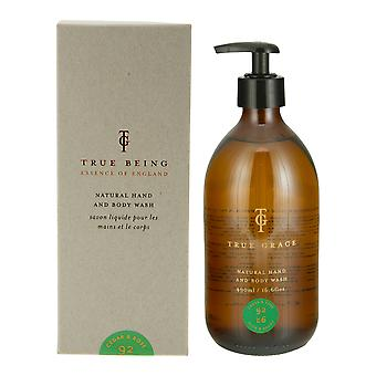 Burlington cedar and rose - natural hand and body wash, 490ml