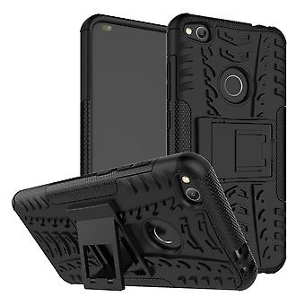 Hybrid sag 2 stykke SWL udendørs sort for Huawei P8 Lite 2017 taske tilfælde dække beskyttelse