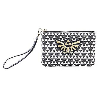 Zelda Coins Purse Black And White Hyrule Logo new Official Nintendo