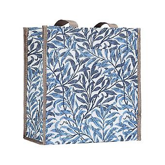 William morris - willow bough reusable shopper bag by signare tapestry / shop-wiow