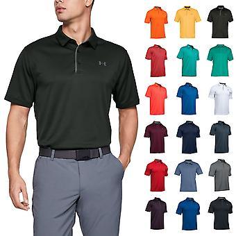 Under Armour Mens Golf Tech Wicking Getextureerd Soft Light Polo Shirt