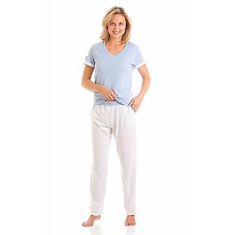 Ladies La Marquise Marl-Spot Combed Cotton Pyjama pajama Sleepwear