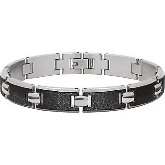 B533281 de trinquete - pulsera de mujer de ATLANTA acero negro plata