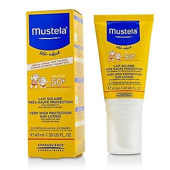 Mustela svært høy beskyttelse Søn lotion Spf50 +-Søn sensitive & amp; Tåler hud-40ml/1.35 oz