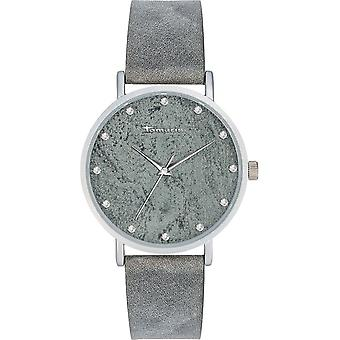Tamaris - Wristwatch - Alva marble 1 - DAU 38mm - Matte Silver - Women - TW034 - Grey Silver