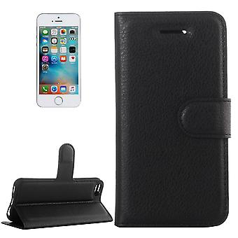 Para iPhone SE, 5s, 5 Case, Wallet PU Leather Flip Cover, Kickstand