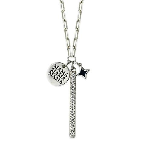 Sterling Silver Small Cross Fleury Crucifix Necklace Solid Back High Polished 0.8mm Chain