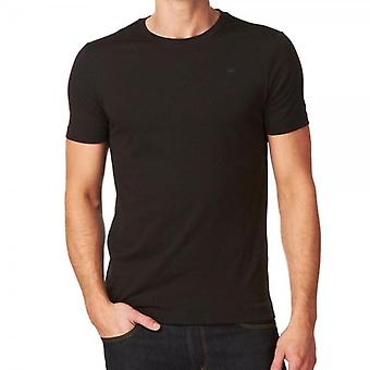 G-Star Base T-Shirt Plain Black Crew Neck 8754.124.990