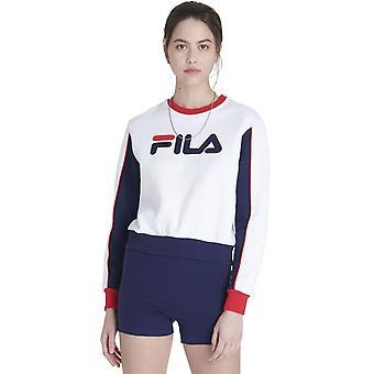 フィラヌリア カラーブロック スウェットシャツ ホワイト/ネイビー/レッド 83
