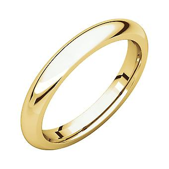 10k Yellow Gold 3mm Polished Comfort Fit Band Ring Jewelry Gifts for Women - Ring Size: 5 to 13