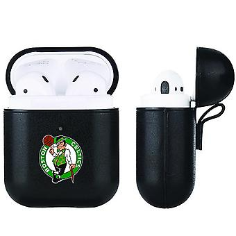 Boston Celtics NBA Fan Brander Zwart Lederen AirPod Case