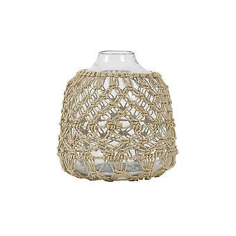 Light & Living Vase 22x23cm Narona Glass Clear And Jute