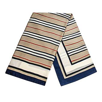 Striped scarf - Navy Blue, No. 33