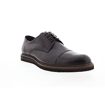 Zanzara Uccello  Mens Brown Leather Dress Lace Up Oxfords Shoes
