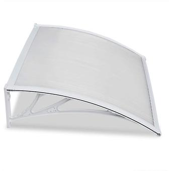 Outdoor Cover Door Window Garden Canopy Patio Porch Awning Shelter - Multiple Size and Colour, White, 120 X76cm