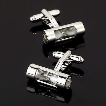 Always late time theme suit cuff links stainless steel