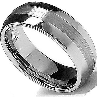 Dazzlingrock Collection Tungsten Carbide Unisex Ring Wedding Band 8MM(5/16 inch) High Polish Matte Band Comfort Fit