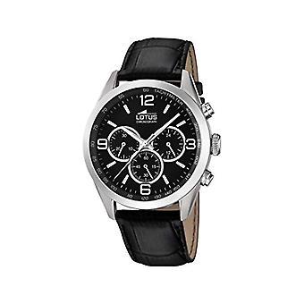 Lotus watch chronograph quartz men's watch with leather 18155/2