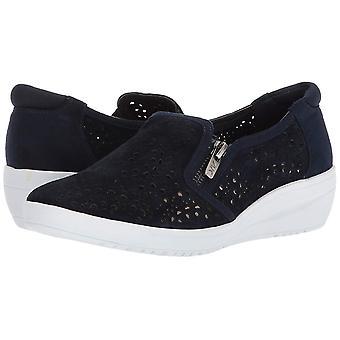 آن كلاين النساء إيفيت الجلود المنخفضة أعلى سستة أحذية رياضية أزياء