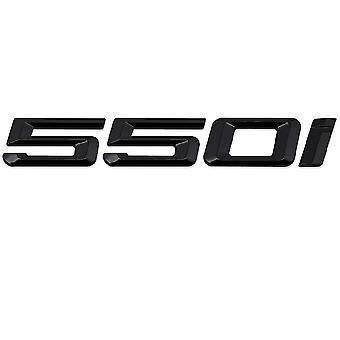 Gloss Black BMW 550i Car Model Rear Boot Number Letter Sticker Decal Badge Emblem For 5 Series E93 E60 E61 F10 F11 F07 F18 G30 G31 G38