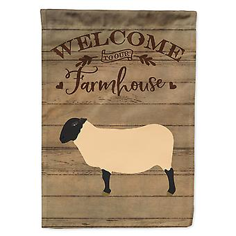 Carolines Treasures  CK6916GF Suffolk Sheep Welcome Flag Garden Size