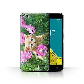 STUFF4 Caso/tampa para Vodafone Smart Ultra 6/jardim/bonito gatinhos