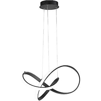 WOFI Indigo 44 Watt Led Ceiling Pendant Light In Black Finish 6134.01.10.8000