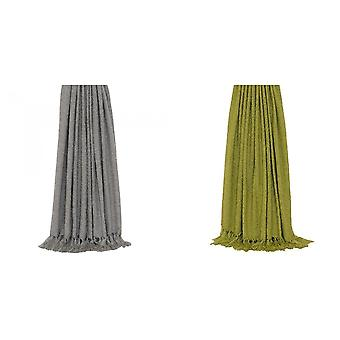 Riva Home Auriella Knitted Tassled Throw