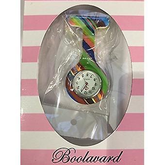 Brand New Fashion Silicone Nurses Brooch Tunic Fob Watch by Boolavard TM. (6 - Transparent Pink)