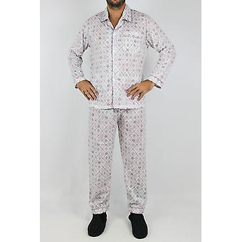 Pyjama à motifs coupe droite